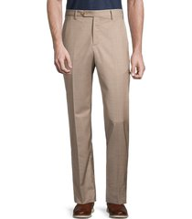 zanella men's devon virgin wool trousers - dark grey - size 35