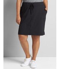lane bryant women's livi knit skort 34/36 black