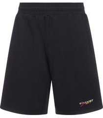 givenchy logo cotton bermuda shorts