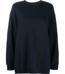 filippa k soft sport oversized long-sleeve sweatshirt - blue