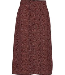atlas print skirt knälång kjol röd modström