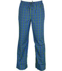schiesser pyjamabroek ruit groen-blauw