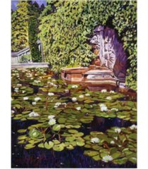 "david lloyd glover lion's head fountain canvas art - 15"" x 20"""