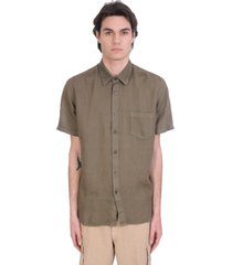 120% lino shirt in green linen