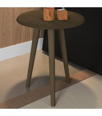 mesa de canto redonda brilhante 2074529 rústico - bechara móveis