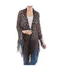 100% alpaca shawl, 'stars over sechura' (peru)