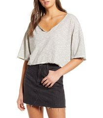 women's project social t good times crop t-shirt, size x-small - ivory