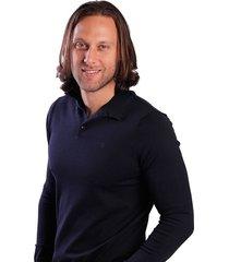 suéter azul oscuro oscar de la renta b9swt03-sk/cptn
