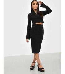 selected femme slfmarge hw knit rib skirt b midikjolar