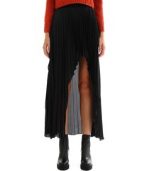 stella mccartney pleated asymmetric skirt