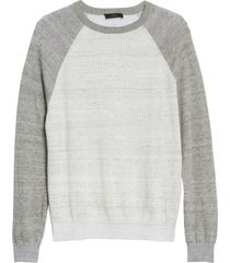 men's vince linen blend baseball sweater