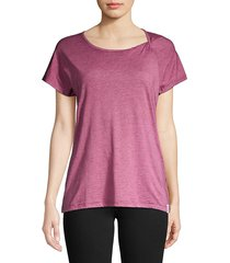marc new york performance women's washed twist-neck tee - bermuda sand - size s