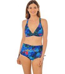 bikini de pretina estampado deep azul ac mare
