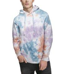 men's allover tie dye pullover hoodie