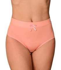calcinha vip lingerie alta castanho coral - rosa - feminino - poliamida - dafiti