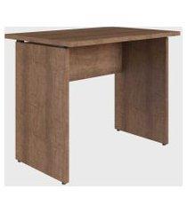 mesa p/ escritório 90cm ative vermont home office artesano marrom