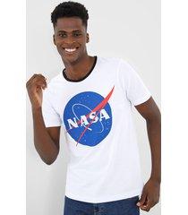 camiseta fiveblu manga curta nasa branca