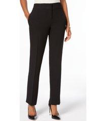 kasper petite slim straight-leg trousers