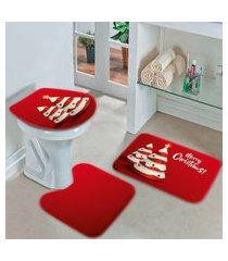 jogo tapetes de natal para banheiro arvores natalinas modernas único