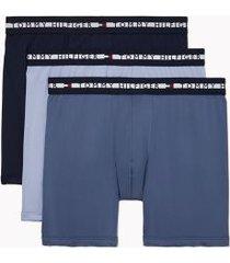 tommy hilfiger men's comfort + boxer brief 3pk navy blazer/vintage indigo/eventide - xxl