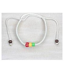 braided cord bracelet, 'colorful joy' (ghana)