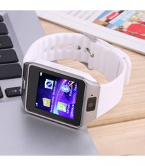 smartwatch reloj inteligente dz09 android blanco