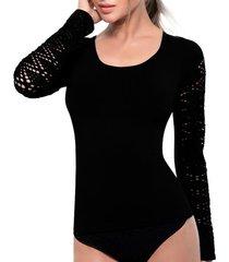 camiseta control anette negro tall