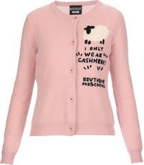 boutique moschino sheep cashmere blend cardigan