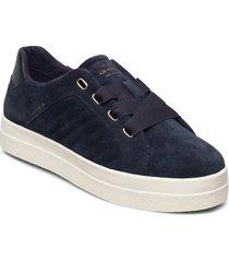avona low lace shoes låga sneakers blå gant