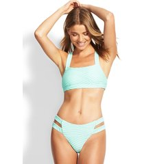 seafolly fresh water crop bikini mint