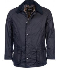 barbour jas men ashby wax jacket navy