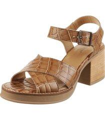 sandalia de cuero suela lady stork gianina