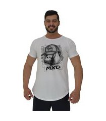 camiseta longline alto conceito monkey king branco