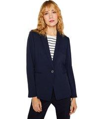blazer entallado formal azul esprit