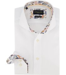 cavallaro overhemd wit cutaway boord
