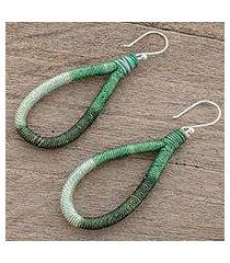 dangle earrings, 'harmony and beauty in green' (guatemala)