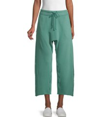 free people movement women's cool factor exposed-seam pants - very berry - size l
