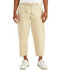 inc men's wide-leg twill pants, created for macy's