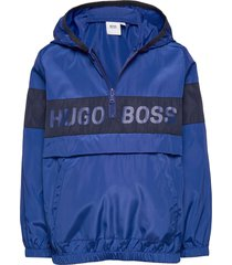 hooded windbreaker outerwear jackets & coats windbreaker blauw boss