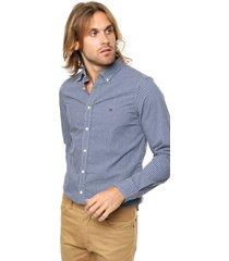 camisa azul tommy hilfiger slim fit mini htr gingham sf2