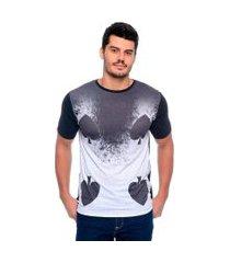 camiseta four of spades emporio alex malha grafite