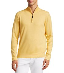 collection silk-blend quarter-zip sweater
