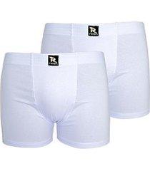 kit linha noite com 2 cuecas boxer microfibra 221 (branco)