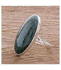 jade cocktail ring, 'dark green tonalities' (guatemala)