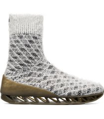 camper lab bernhard willhelm, sneaker uomo, bianco/nero, misura 46 (eu), k300309-002