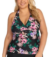 island escape trendy plus size in your dreams underwire tankini top, created for macy's women's swimsuit