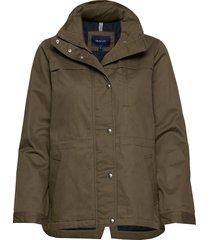 d1. short casual jacket parka rock jacka grön gant