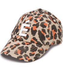 etudes all-over leopard print cap - neutrals