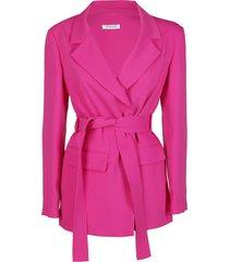 parosh fuchsia belted jacket