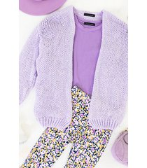 oversized knitted vest lilac